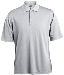 047391 Mens Grid Texture Performance Polyester Polo