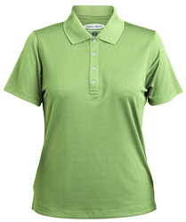 047396 Ladies Grid Texture Performance Polyester Polo