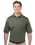 410 Odyssey Mens UltraCool™ Jacquard Basket Pattern Polo