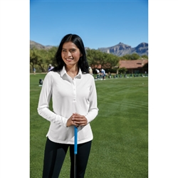 545322 Nike Ladies Long Sleeve Dri-FIT Stretch Tech Polo