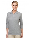 601 Aurora Ladies 3/4 Sleeve Polo