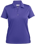 7301 Pebble Beach Ladies Horizontal Texture Performance Polo