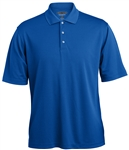 7391 Mens Grid Texture Performance Polyester Polo