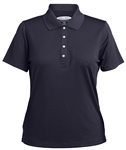 7396 Ladies Grid Texture Performance Polyester Polo