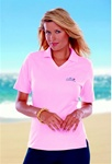 BG6209 Ladies V-Neck SuperBlend Pique Polo