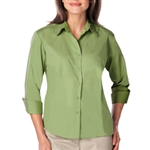 BG6260 - Ladies 3/4 Sleeve Easy Care 65 poly/35 cotton Poplin
