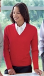 D475W Ladies V-Neck Pullover Cardigan