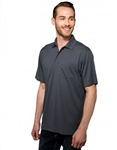 K020P Vital Pocket Mens Performance Value Priced Polo