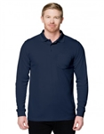 K020PLS Vital L/S Pocket Mens Performance Value Polo