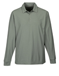 K107LS Endurance Mens Long Sleeve  Waffle Knit Polo