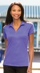 L573 Ladies Cotton Rich Rapid Dry™ Mesh Polo