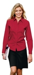 L608 Ladies Long Sleeve Cotton/Poly Blend Shirt