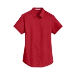 L664 Port Authority® Ladies SuperPro™  S/S Twill Shirt