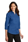 L665 Port Authority® Ladies 3/4-Sleeve SuperPro™ Twill Shirt