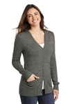 LSW415 Ladies Marled Cardigan