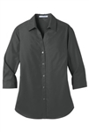 LW102  Ladies 3/4 Sleeve Carefree Poplin Shirt