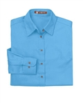 M500W Ladies Long-Sleeve Twill Shirt with Stain-Release