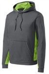 ST239 Sport-Wick® CamoHex Fleece Colorblock Hooded Pullover