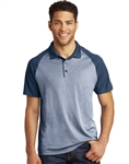 ST641  Sport-Tek® PosiCharge® RacerMesh® Raglan Heather Block Polo